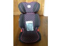 Britax trend line car seat grey and pink polka dot