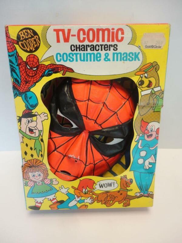 1972 Spider-man Ben Cooper Halloween Costume Marvel Comics Vintage