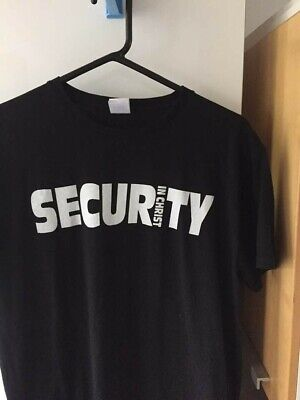 security in Christ mens tee shirt Russell tumble dry-able for sale  Hornchurch
