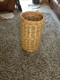 LOVELY OLD CANE STICK BASKET IN GOOD CONDITION .