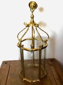 Solid Victorian Brass Lantern