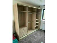 💥💯LIMITED QUANTITY DEALS 2 AND 3 DOORS SLIDING WARDROBES WITH FULL MIRRORS, SHELVES, RAILS