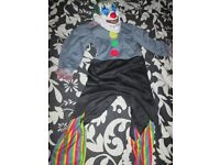 BOYS SCARY CLOWN OUTFIT SIZE 5/6 YEARS GREAT FOR HALLOWEEN PARTY