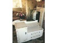 Vintage upcycled dressing table small shabby chic cottage chic
