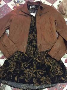 Genuine Women's Tan Leather Jacket Jumper Hornsby Hornsby Area Preview