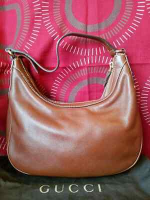 SALE!  100% AUTHENTIC GUCCI MINI HOBO LEATHER BAG IN EXCELLENT USED CONDITION