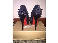 Christian louboutin lady peep spiked heels
