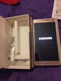 Samsung galaxy note 4 gold 32gb unlocked boxed