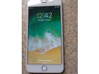 iPhone 6 Plus white and silver, pristine condition.