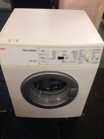 white aeg 5kg 1200 spin digital washing machine