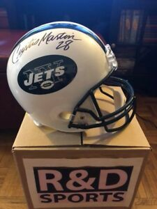 New York Jets- Curtis Martin signed helmet