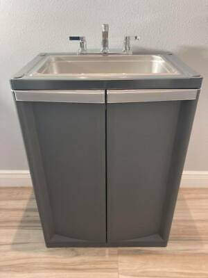 Portable Sink Mobile Handwash With Hot Cold Water Fullsize Basic 2021 D-gray