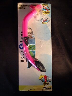 Snorkel Aqua Lung Sport Laguna Youth Series Pink Water Sports Snorkeling Diving