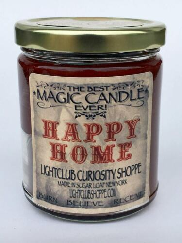 Wiccan Magic Spell Candle for HAPPY HOME - Peace - Calm - Love - Health