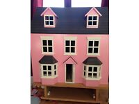 DOLLS HOUSE AND FURNISHINGS