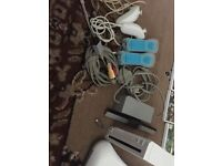 wii console and fit wii pad and all cables