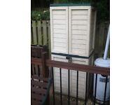 Plastic garden cabinet for sale