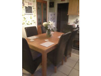 Dining Table With 6 Black Chairs