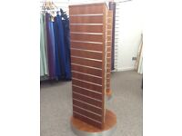 3 sided slated shop display tower/display stand. Retail stands -excellent condition X4 available