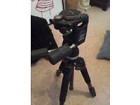 professional tripod and manfrotto 3 way fluid head support and plate