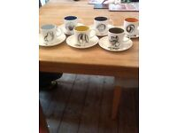 Susie COOPER - WEDGEWOOD - coffee set BLACK FRUITS
