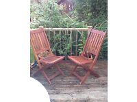 6 Matching Garden chairs