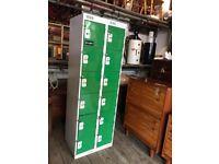 Set Of Green Metal Lockers