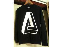 New NWOT Mens Black Burton Sweatshirt Jumper White Geometric Design - M