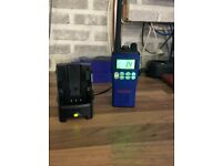 forsale marine band radio in perfect working order with desktop charger in blue may swap