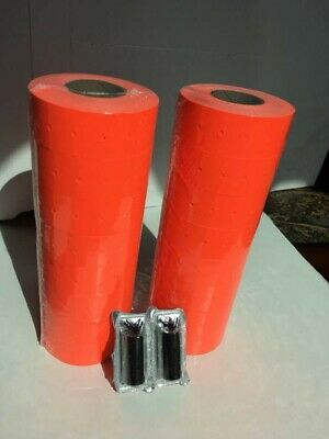 16000 Red Price Gun Labels 2 Ink Rollers - Fits Our Blue Price Marker Guns