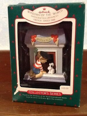 Hallmark Ornament - Windows of the World, French/France - 1988 - EUC