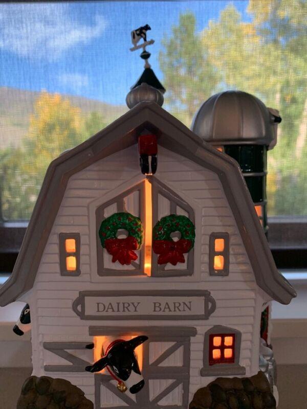 department 56 snow village dairy barn