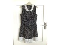 M&S textured girl dress with hearts age 10-11