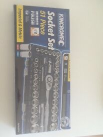 Brand new Kincrome Socket set 51 Piece Only £40 Retails at £90+