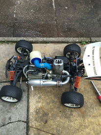 12 mini hyper st petrol rc car with extras