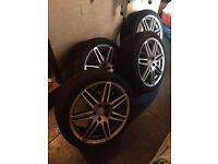 Audi A4 alloys with marangoni tyres