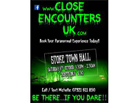 GHOST HUNT - STOKE TOWN HALL .... SATURDAY 8th OCTOBER 2016