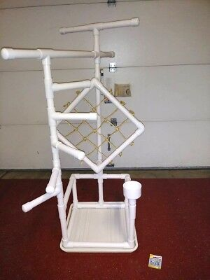 """54"""" Tall Climber 1"""" PVC Macaw  Perch  Stand   Play Gym w Pan FREE SHIPPING!**"""