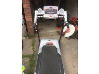 York aspire treadmill for sale with electric incline and programmes.