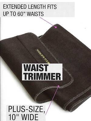 "Gold's Gym PLUS SIZE Waist Trimmer Belt Adjustable Exercise 60"" Stretch (No Box)"