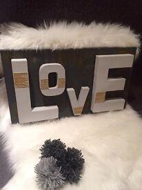 Handmade Shabby Chic 'LOVE' sign