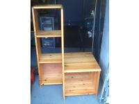 Pine shelving/bookcase