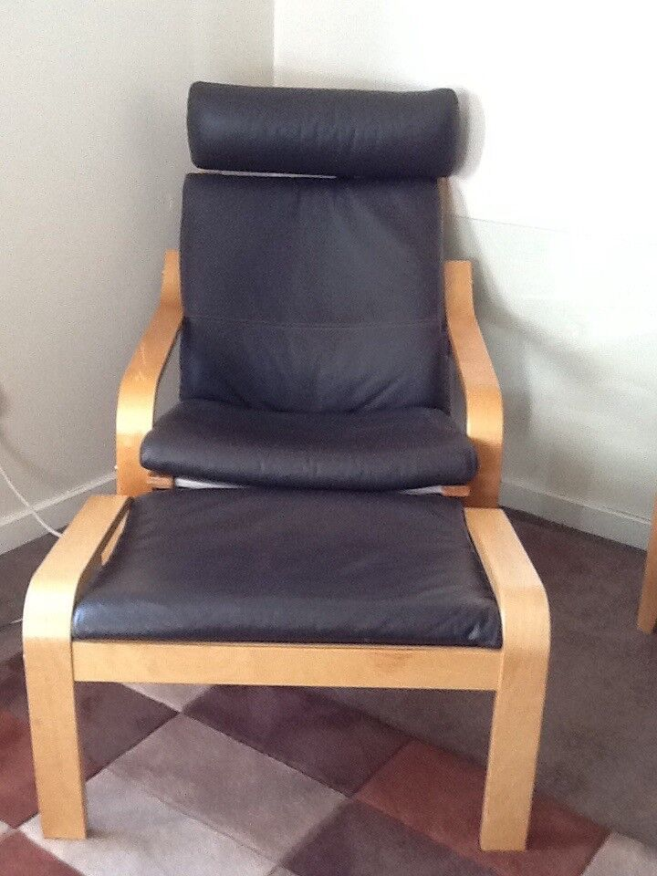 Pleasant Ikea Poang Chair Footstool Brown Leather Like New In Borrowstounness Falkirk Gumtree Machost Co Dining Chair Design Ideas Machostcouk