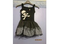 girls pirate fancy dress outfit age 8/10 years includes dress and headband