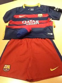 Boys Barcelona football strip age 7 - 8 years