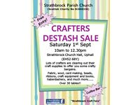 Crafters Destash Sale, Sat 1st Sept, 10am to 12.30pm, Strathbrock Church Hall, Uphall, EH52 6BY