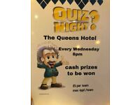 WEDNESDAY is QUIZ NIGHT at the QUEENS HOTEL, FORFAR
