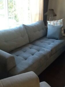Couch, chair and ottoman