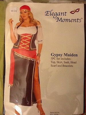 Gypsy Maiden Costume (Defective FLIRTY GYPSY MAIDEN COSTUME OFF SHOULDER HALTER TOP)