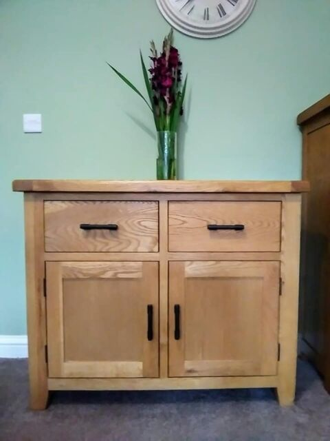 Stunning Oak Sideboard With Cast Iron Handles Like New Condition In Hednesford Staffordshire Gumtree